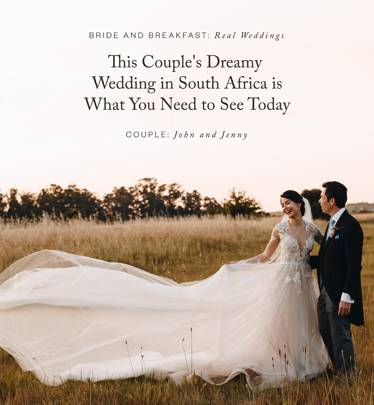 This Couple's Dreamy Garden Wedding in South Africa is What You Need to See Today
