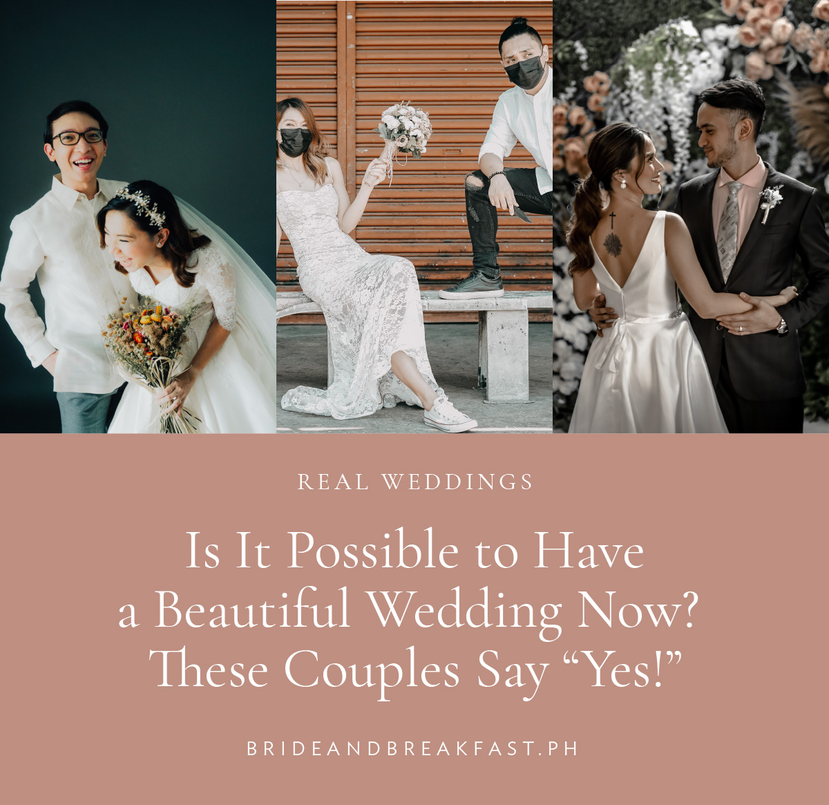 """Is It Possible to Have a Beautiful Wedding Now? These Couples Say """"Yes!"""""""